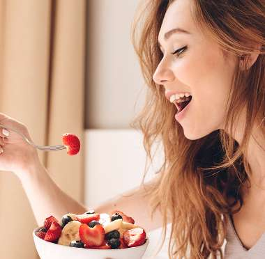 Simple Trigger Diet girl eating fruit related images.tif