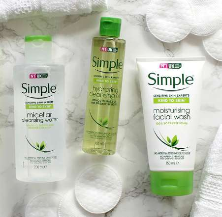 Simple 4 Facial cleansers your skin will love 700x686