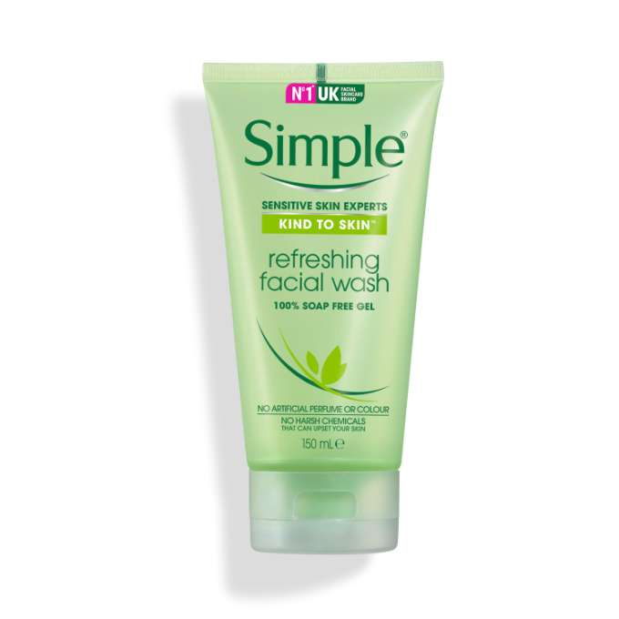 Kind to Skin Refreshing Facial Gel Wash | Simple® Skincare