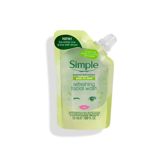 Simple Refreshing Facial Wash Pouch