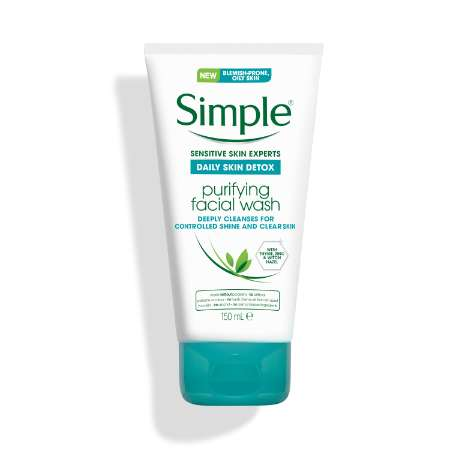 Simple Daily Skin Detox Purifying Face Wash