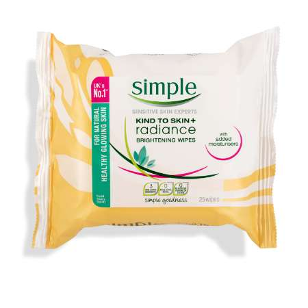 Simple Kind to Skin + Radiance Brightening Wipes