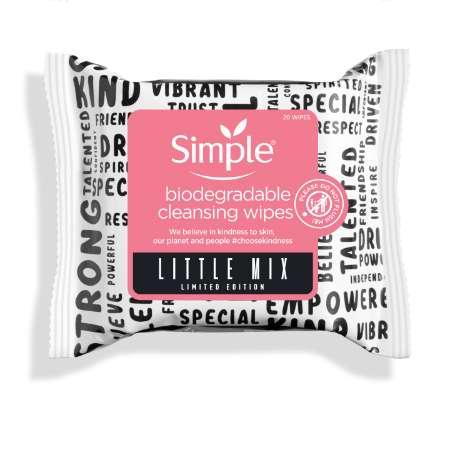 Simple Little Mix Biodegradable Cleansing Wipes