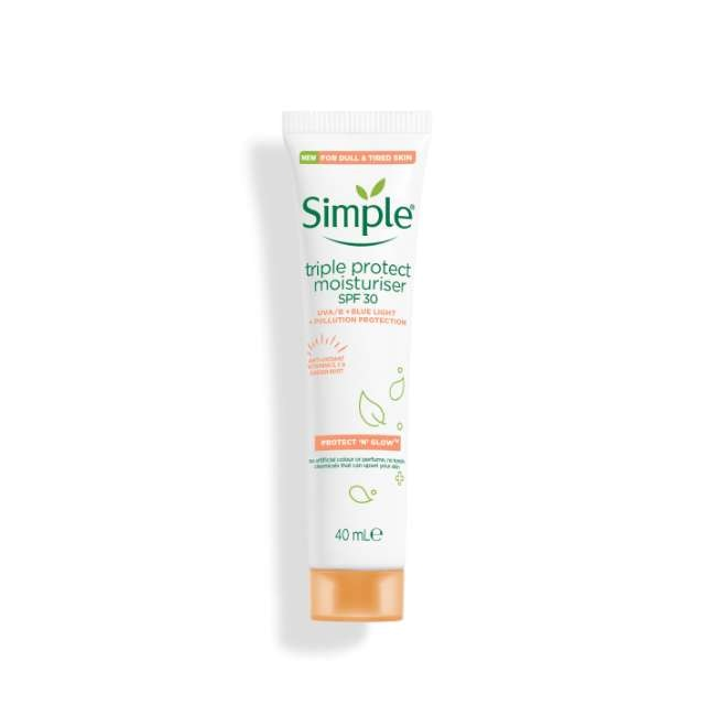 Simple Protect 'n' Glow Triple Protect moisturiser with spf 30