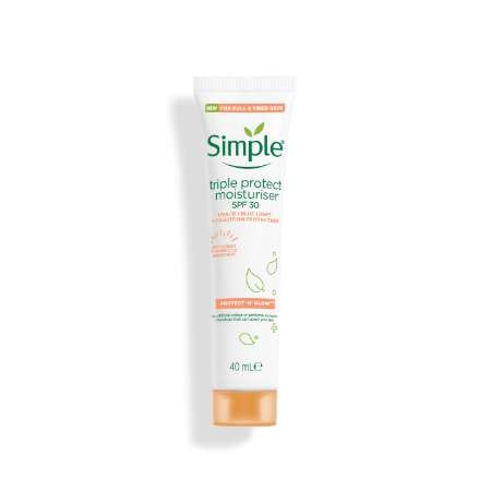 Simple Protect 'n' Glow Triple Protect moisturiser spf 30