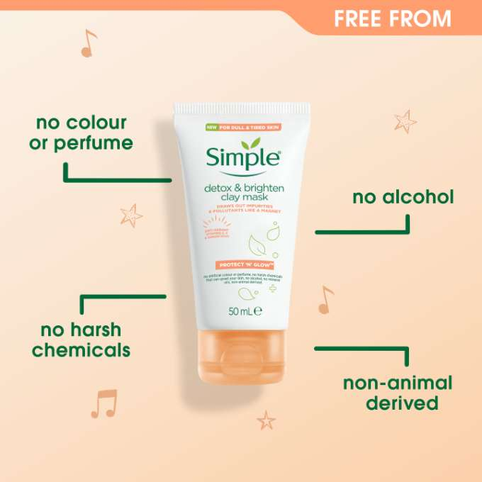 Simple Protect 'n' Glow Detox & Brighten Clay Mask