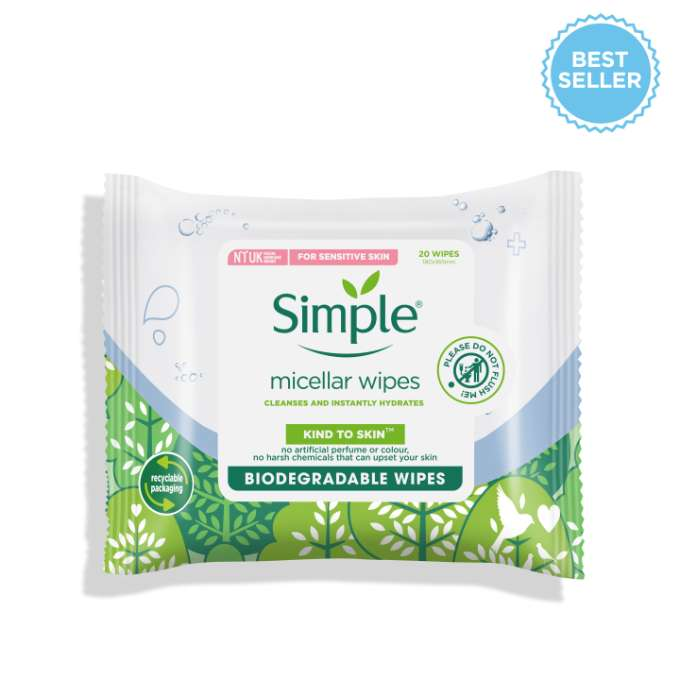 Simple KTS Biodegradable Micellar Facial Wipes