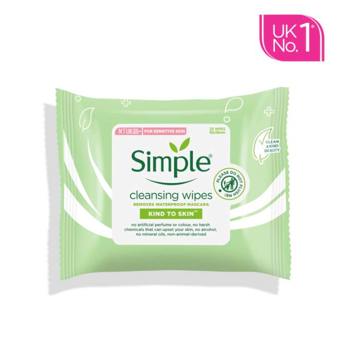 Simple KTS Cleansing Facial Wipes