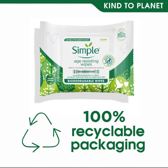 Simple Regeneration Age Resisting Biodegradable Wipes Kind to Planet