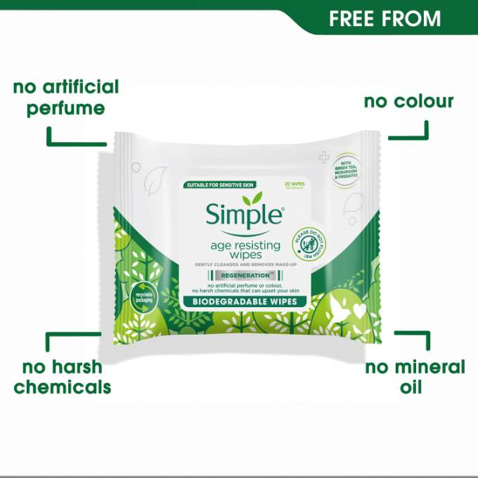 Simple Regeneration Age Resisting Biodegradable Wipes Free From