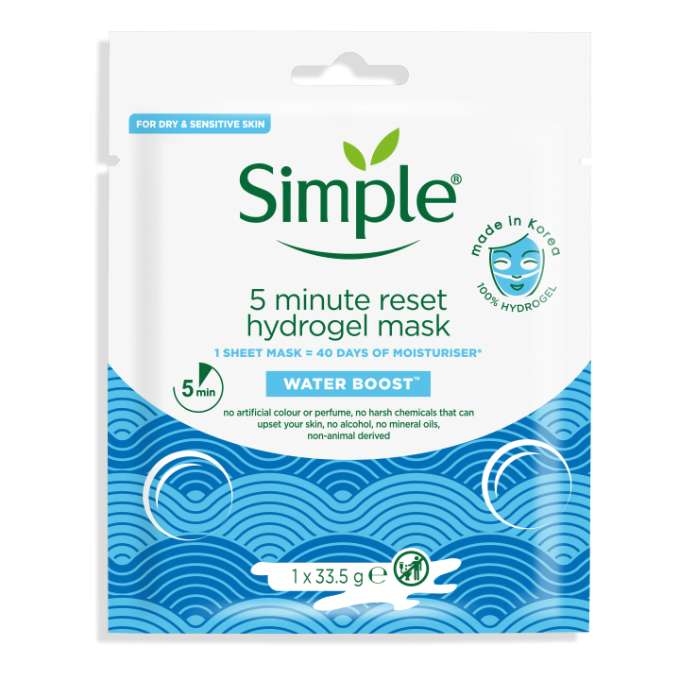 Simple WB 5 Minute Reset Hydrogel Mask