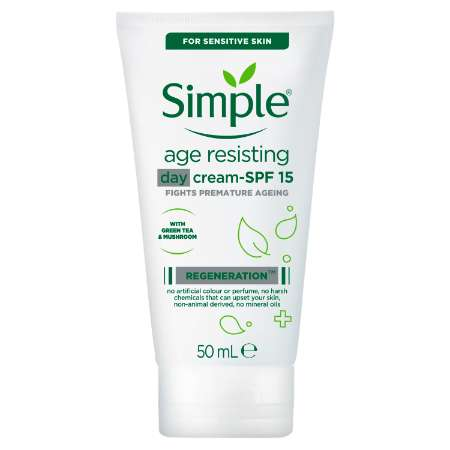 Simple Regeneration Age Resisting Day Cream SPF 15