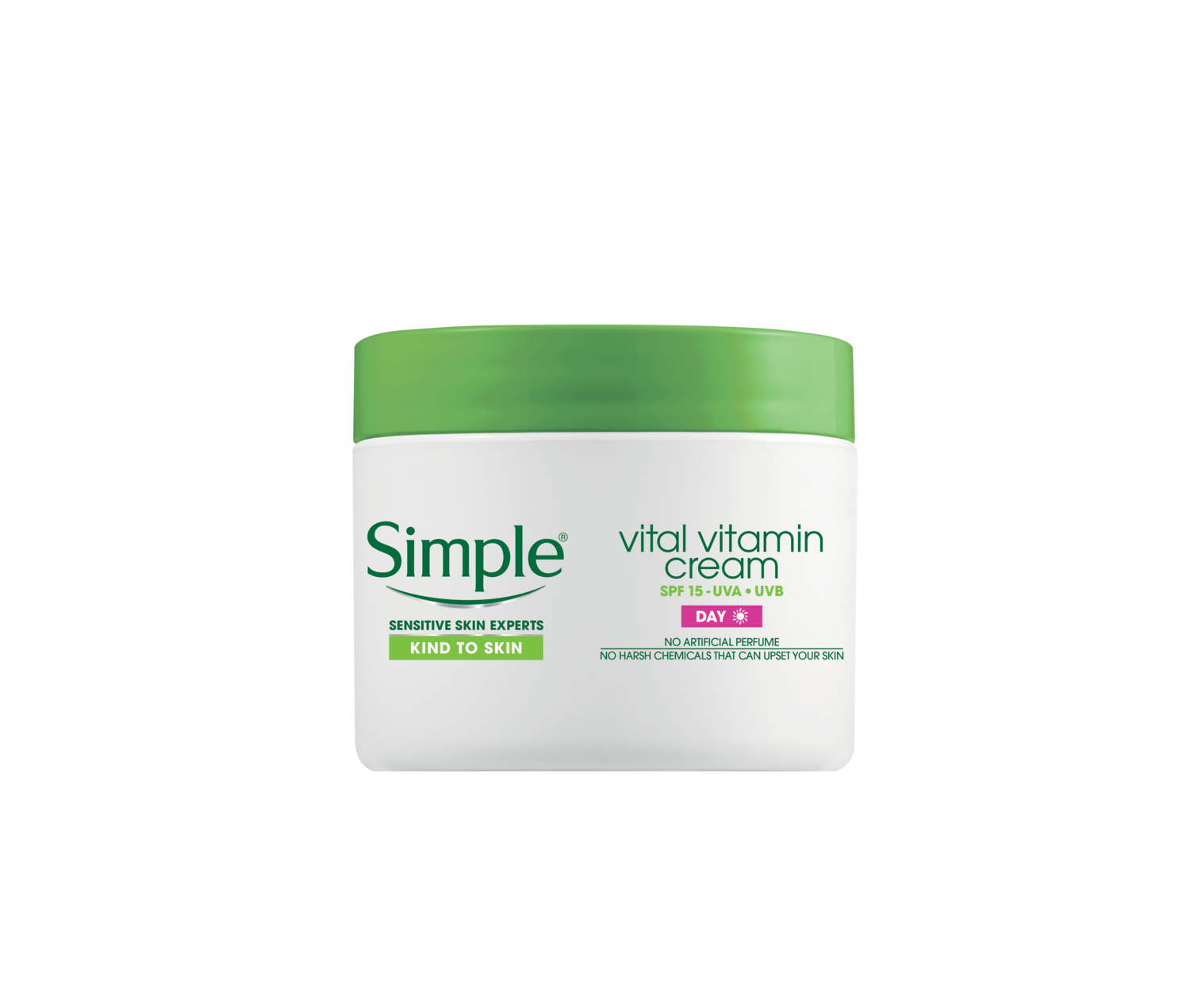 Simple Kind to Skin Vital Vitamin Day Cream with spf 15 FOP