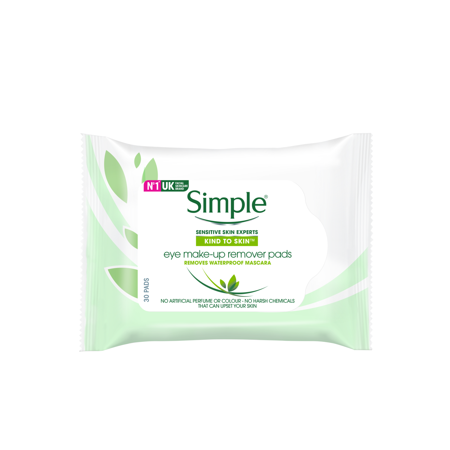 Simple Eye Make Up Remover Pads 30 wipes FOP