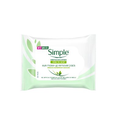 Simple Kind to Skin Eye make-up Remover Pads
