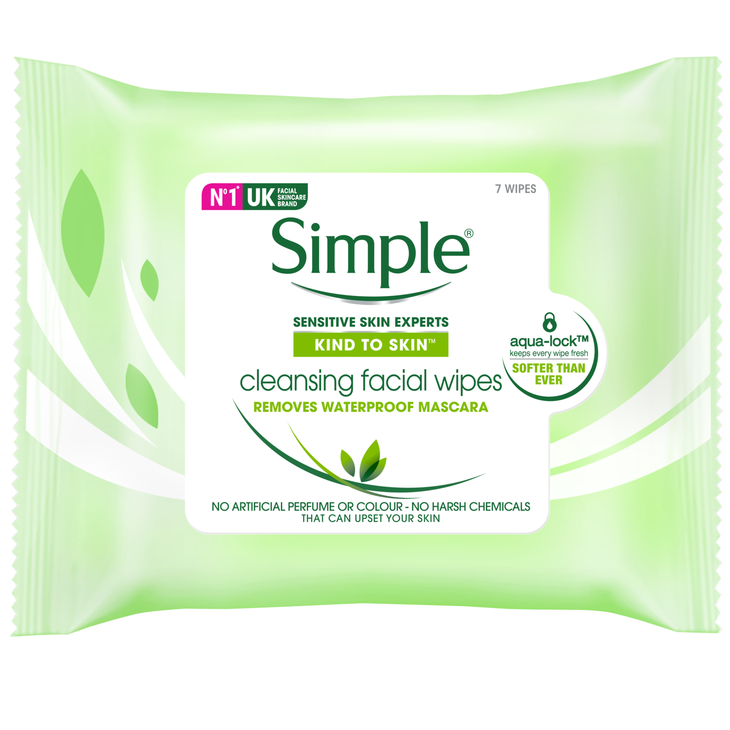Simple Kind to Skin Facial Wipes Cleansing 7pc