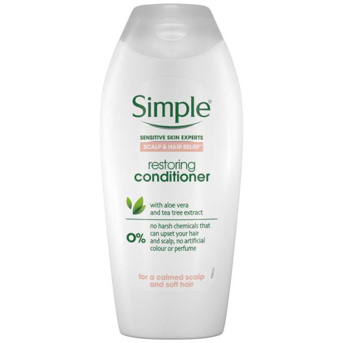 JPEG - Simple  Haircare  Scalp & Hair relief   Conditioner Front La