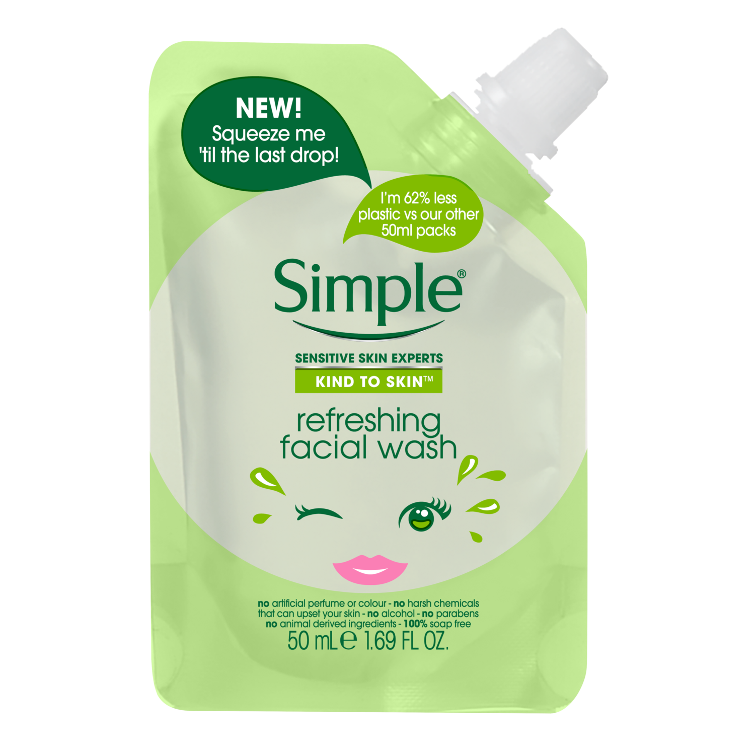 Refreshing Facial Wash Pouch Simple 174 Skincare