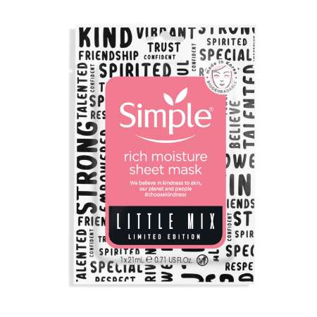 Simple Little Mix Rich Moisture Sheet Mask