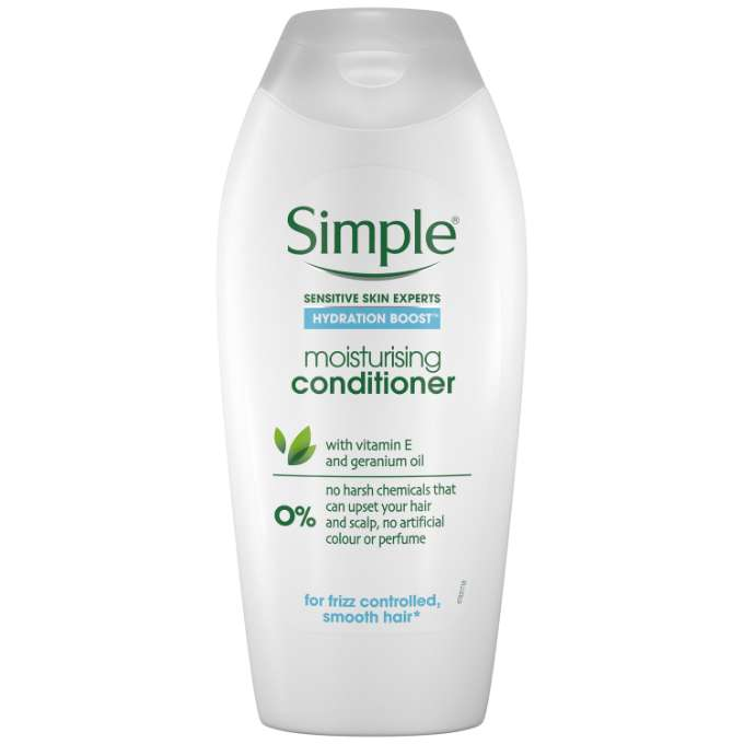 Simple  Haircare  Hydration Boost  Conditioner Front Label 40