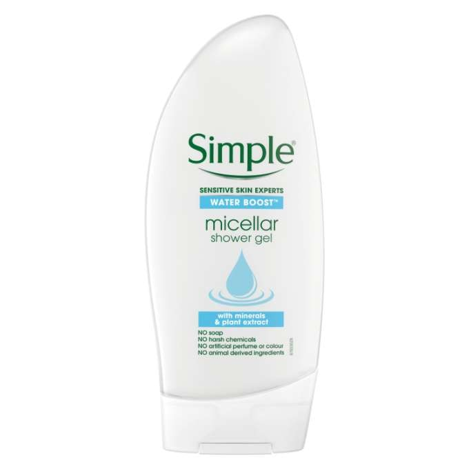 Simple Water Boost Micellar Water Shower Gel 250ml