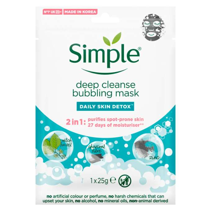 Simple SKIN FACE Deep Cleanse Bubble 1 PC