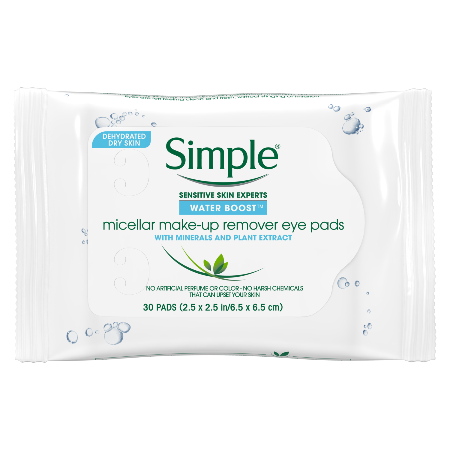 Simple Water Boost Micellar Make up Remover Eye Pads 30 ct