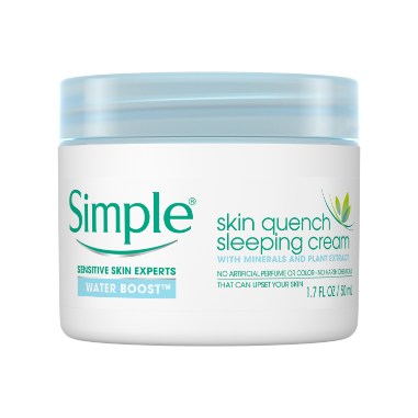 Simple Water Boost Skin Quench Sleeping Cream 1.7 oz