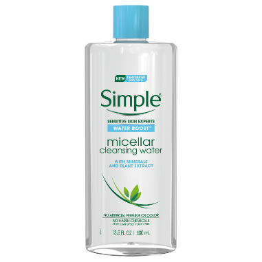 Simple Water Boost Micellar Cleansing Water Sensitive Skin 13.5 oz